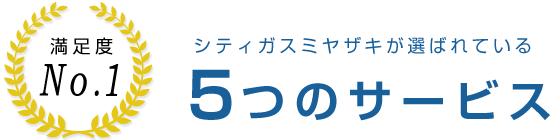 シティガスミヤザキが選ばれている5つのサービス